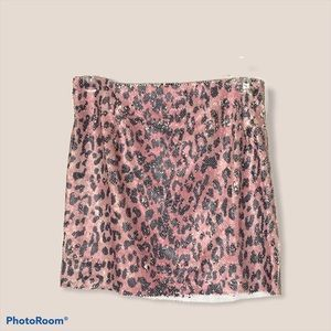 Free People sequin pink leopard size 2